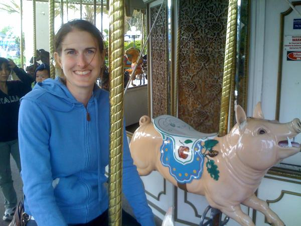 Suzi on the Merry-Go-Round