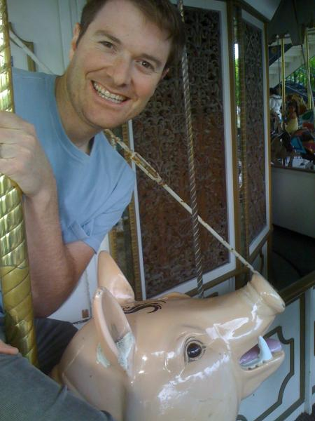 Matt on the Merry-Go-Round
