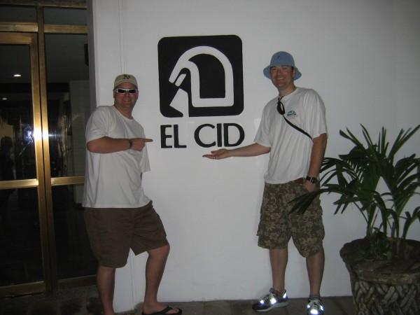 Brett and Matt outside the El Cid