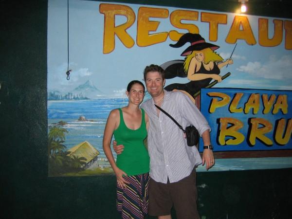 Suzi and Matt at Playa Bruja